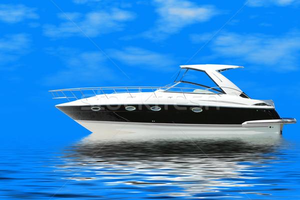 fast luxury yacht sails blue sea Stock photo © goce