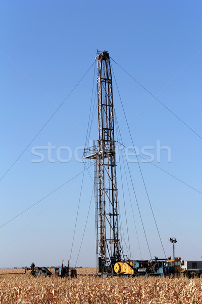 oil drilling rig and equipment Stock photo © goce