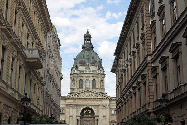 Szent bazilika Budapest Magyarország égbolt város Stock fotó © goce