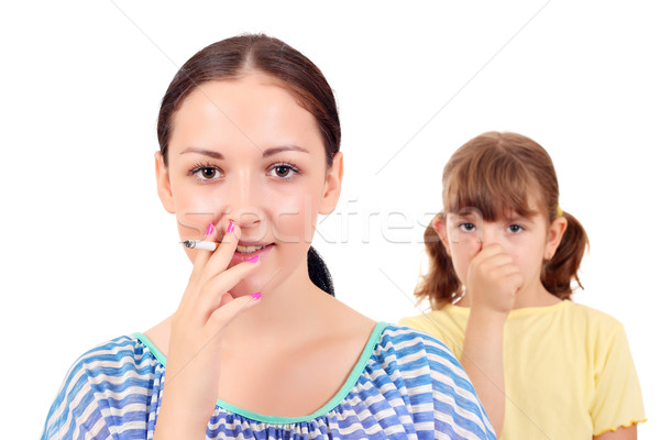 Smoking can cause asthma and diseases in children  Stock photo © goce