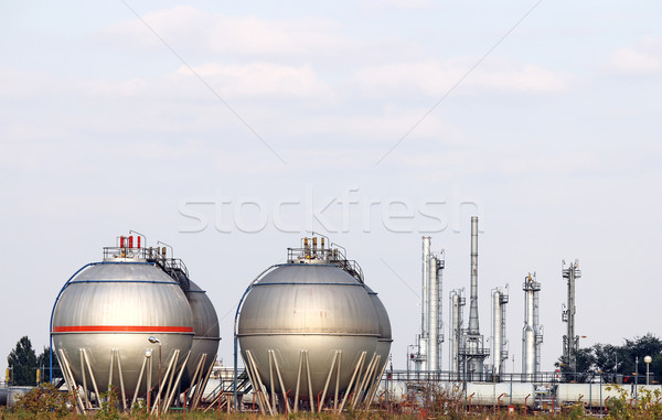 petrochemical plant with oil tanks Stock photo © goce