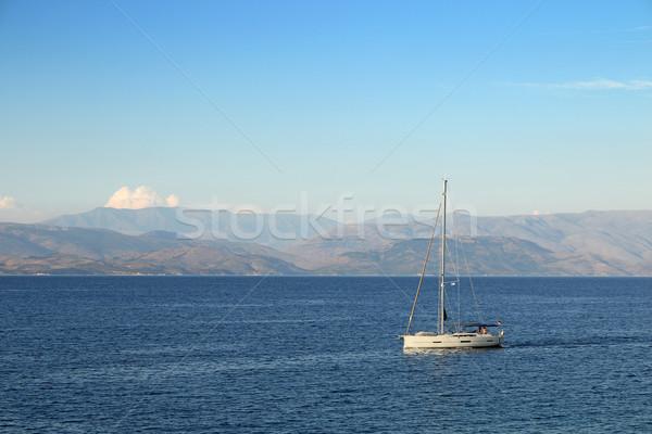 sailboat sailing near the Corfu island Stock photo © goce