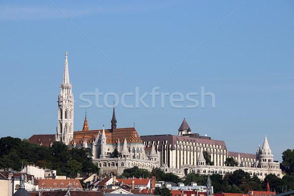 Matthias church and Fisherman towers Budapest cityscape Stock photo © goce