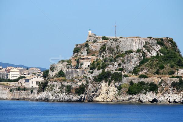 старые крепость города Греция здании морем Сток-фото © goce