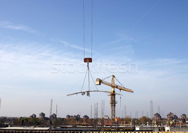 új épület építkezés munkások üzlet város Stock fotó © goce
