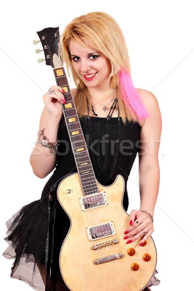 Bella rock rotolare star donna Foto d'archivio © goce