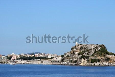 öreg erőd város Görögország égbolt víz Stock fotó © goce