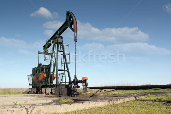 Stock fotó: Olajipar · olajfúró · torony · mező · olaj · erő · gép