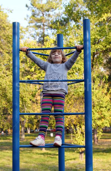 счастливым девочку площадка улыбка ребенка красоту Сток-фото © goce