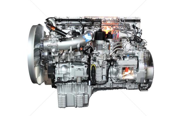 Stock fotó: Teherautó · gép · izolált · fehér · vasaló · motor
