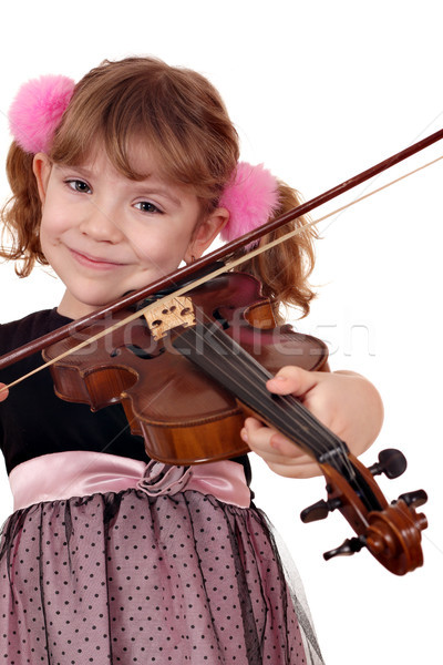 beautiful little girl with violin Stock photo © goce