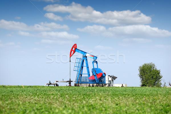 oil pump jack on field Stock photo © goce