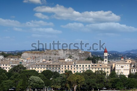 Corfu town cityscape Ionian island Greece Stock photo © goce
