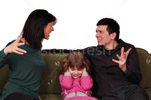 家族 けんか 女性 子 小さな 父 ストックフォト © goce
