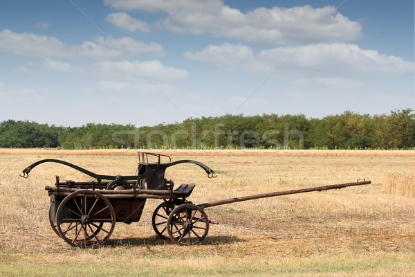 old fire wagon on field Stock photo © goce