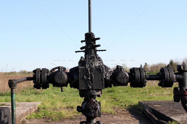 Olajipar szennyezés ipar olaj erő gép Stock fotó © goce