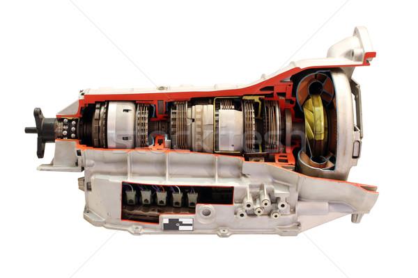Auto versnellingsbak geïsoleerd witte technologie macht Stockfoto © goce