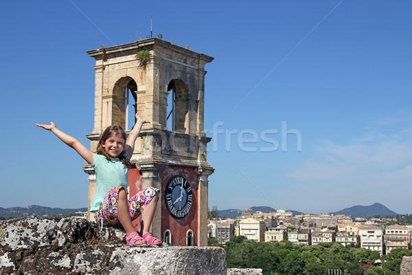 Felice bambina città Grecia città bambino Foto d'archivio © goce