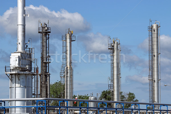 petrochemical plant refinery industry zone Stock photo © goce