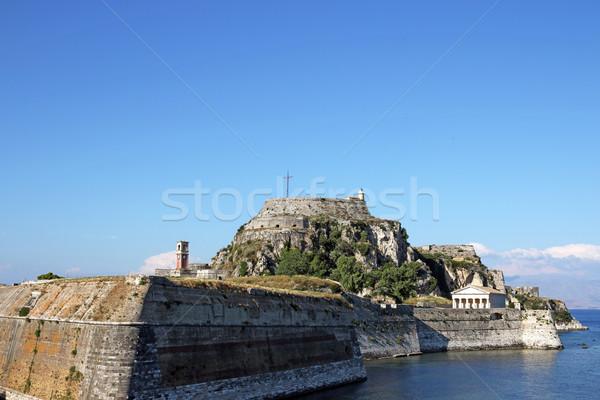 Stock fotó: öreg · erőd · város · Görögország · nyár · évszak