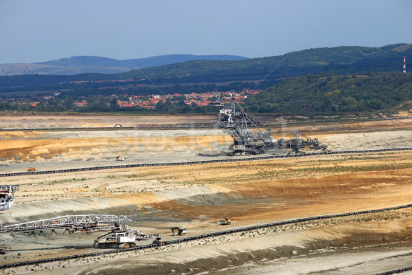 open pit coal mine with giant excavators  Stock photo © goce