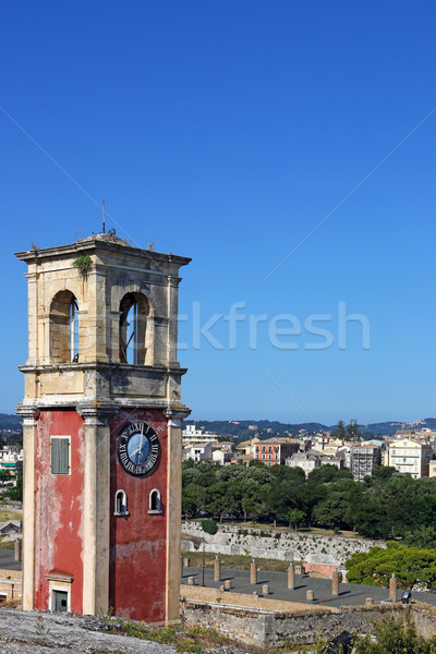 clock tower Corfu town Greece Stock photo © goce