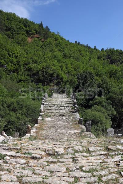 stone path Kalogeriko bridge on Vikos gorge Zagoria  Stock photo © goce
