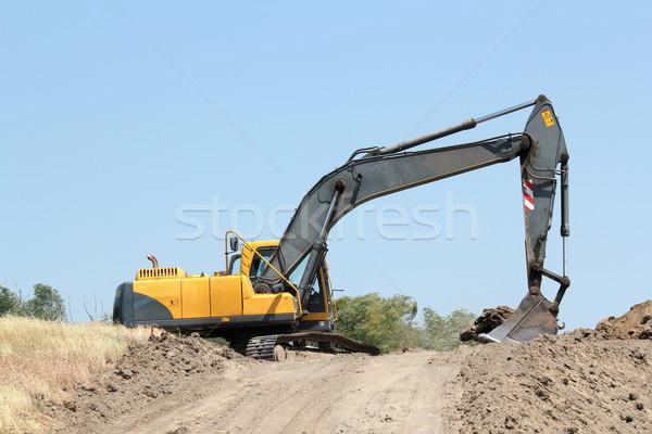 экскаватор дороги промышленности власти двигатель построить Сток-фото © goce