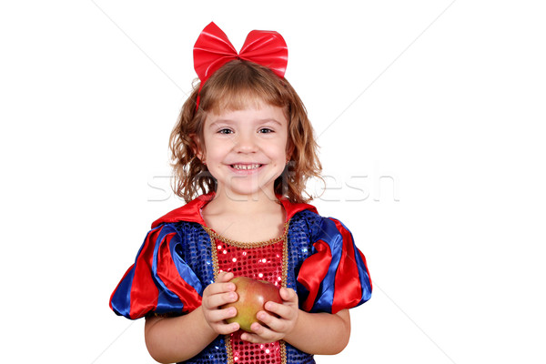 happy little girl with apple Stock photo © goce