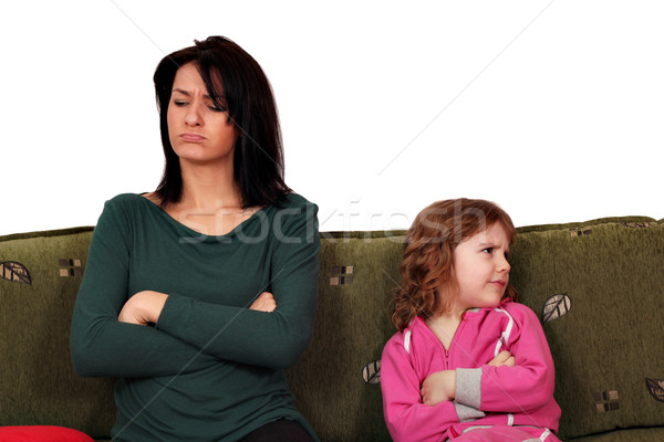 mother and daughter quarrel  Stock photo © goce