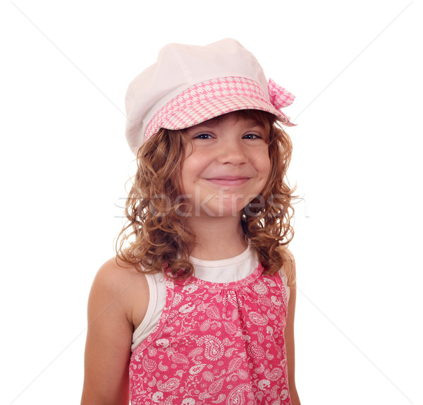 happy little girl with hat portrait Stock photo © goce
