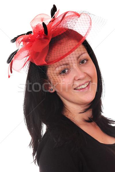 Güzel genç kız peçe portre kadın kız Stok fotoğraf © goce