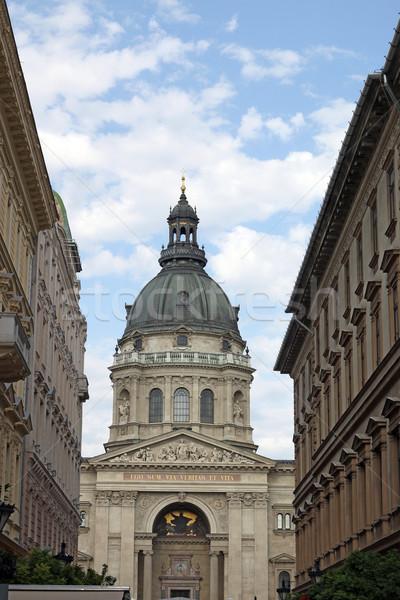 Aziz bazilika Budapeşte Macaristan gökyüzü şehir Stok fotoğraf © goce
