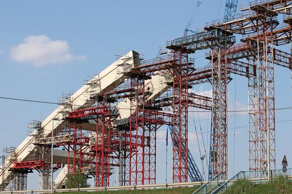 new bridge arc construction site Stock photo © goce