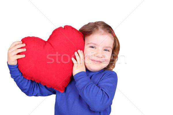 Zdjęcia stock: Szczęśliwy · dziewczynka · serca · miłości · dziecko · piękna