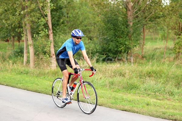Maschio ciclista gara bike sport salute Foto d'archivio © goce