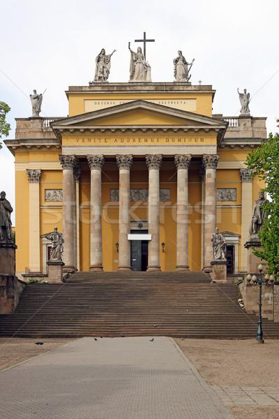 Słynny katedry bazylika Węgry budynku krzyż Zdjęcia stock © goce