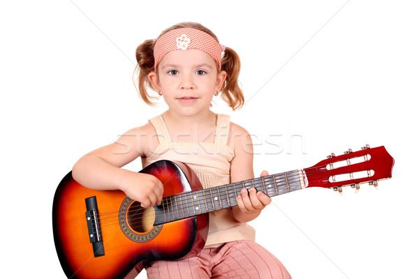 young girl play guitar Stock photo © goce