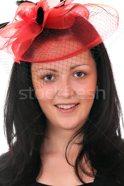 Güzel kız peçe portre kadın kız güzellik Stok fotoğraf © goce