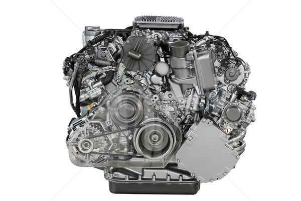 car engine front view isolated on white  Stock photo © goce