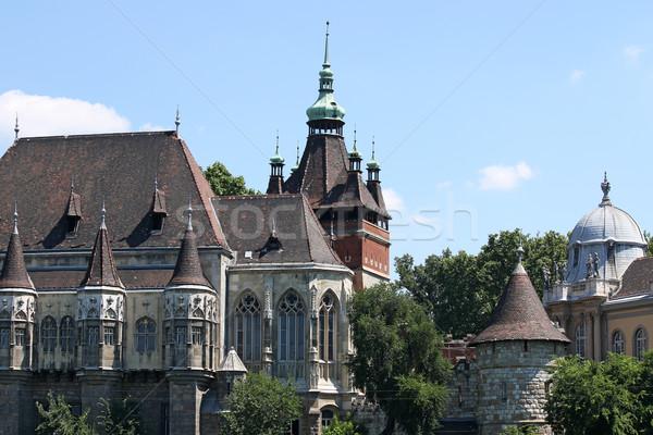 Castillo mojón Budapest Hungría piedra gótico Foto stock © goce
