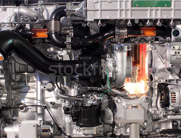 Vrachtwagen dieselmotor ijzer motor gordel Stockfoto © goce