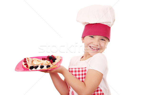 Feliz little girl cozinhar doce menina criança Foto stock © goce