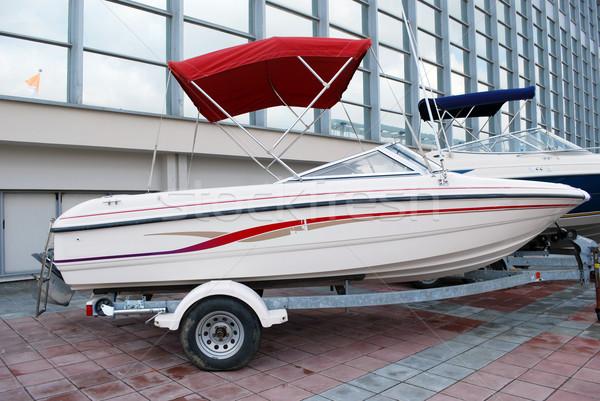 Gyors motorcsónak csónak hajó vitorlázik vakáció Stock fotó © goce
