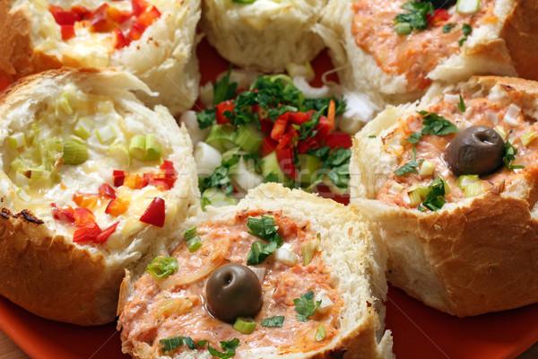 хлеб овощей продовольствие лист зеленый сыра Сток-фото © goce
