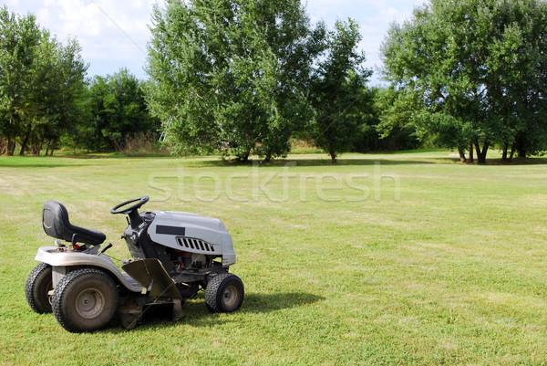 Fűnyíró mező zöld gép szerszám gyep Stock fotó © goce