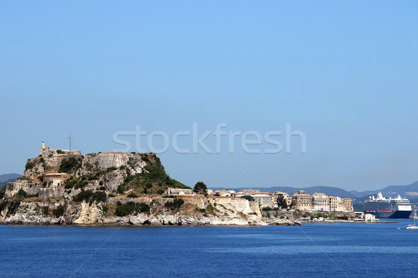 old fortress Corfu town and port Greece Stock photo © goce