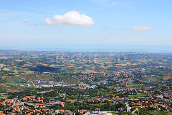 Сан-Марино морем Италия пейзаж небе природы Сток-фото © goce