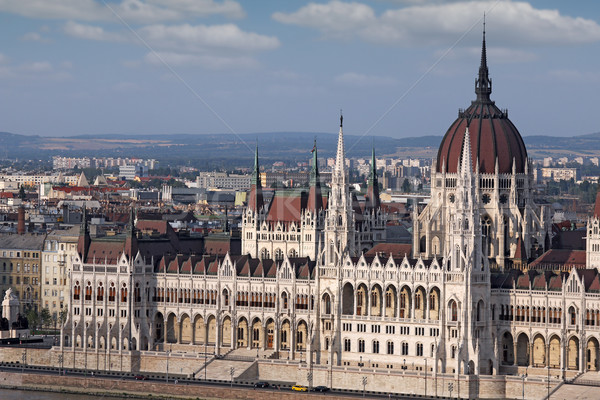 Hungarian Parliament Budapest close up Stock photo © goce