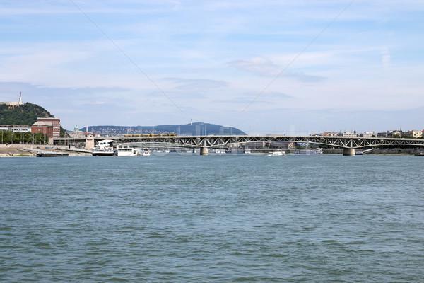 Ponte danúbio rio Budapeste cidade paisagem Foto stock © goce